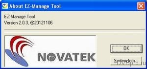 About EZ-Manage Tool Version 2.0.3 Novatek