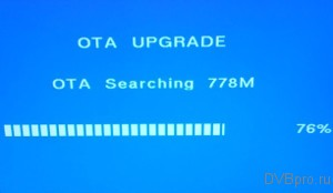 OTA UPGRADE Searching DVB-T2