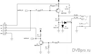 Sen5 Lab's ST-603 UART RS-232 diagram