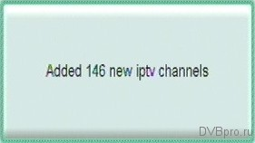 Added 146 new iptv channels