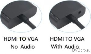 HDMI to VGA no Audio or With Audio